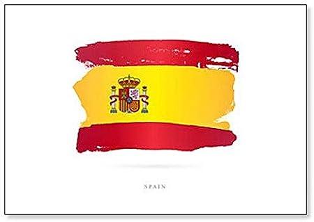 Bandera de España. Imán clásico para nevera con diseño abstracto: Amazon.es: Hogar
