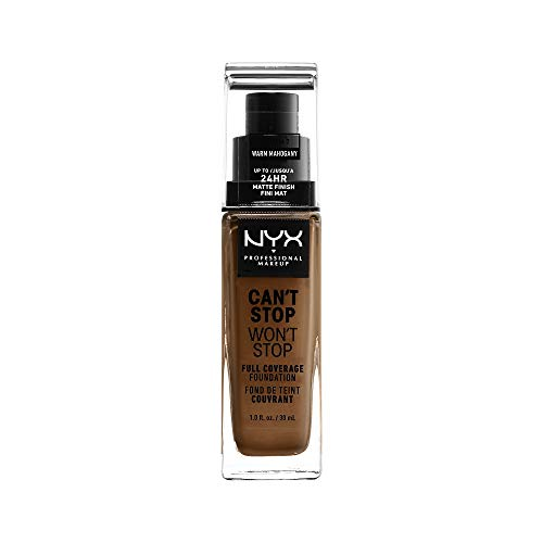 Nyx Professional Makeup Can't Stop Won't Stop Full Coverage Foundation, Warm, 1.3 Ounce
