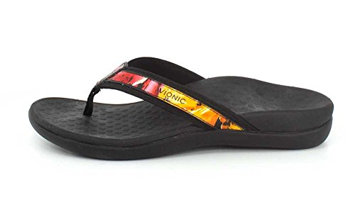 Print Support Flower Arch Vionic Women's Flip II Flop Black Tide 4q4z6IS