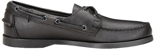 Sebago Zapatos Docksides barco B72673 Negro Negro Negro (Black Leather)