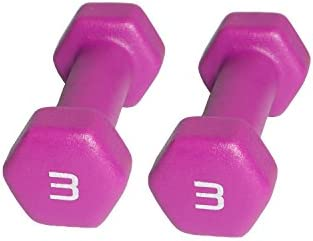 CAP Barbell Neoprene Coated Dumbbell (Pair), 3 lb, Magenta