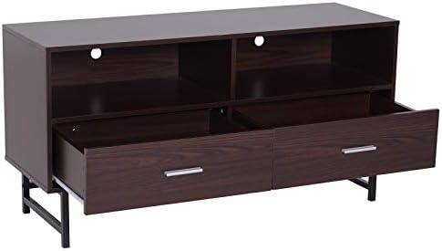Amazon.com: Mueble de TV de madera clásica, elegante y ...