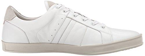 Kenneth Cole New York Menns Merkevare Leder Mote Sneaker Hvit