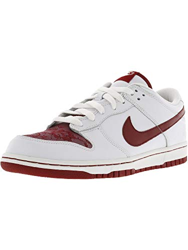 (Nike Women's Dunk Low White/Varsity Red-White Ankle-High Running Shoe - 12M)