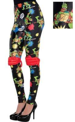 Amscan Teenage Mutant Ninja Turtles Leggings for Women, Halloween Costume Accessories, One Size]()