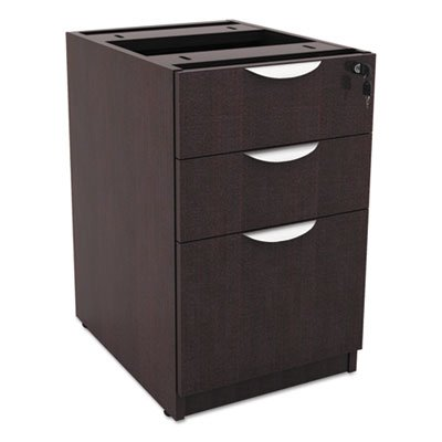 Valencia Box/Box/File Full Pedestal, 15 5/8w x 20 1/2d x 28 1/2h, Espresso, Sold as 1 Each