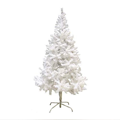 trees- Christmas National White 1.8m/2.4m Christmas Day Decorations Ornaments Hinged (Size : 1.8M(Height))