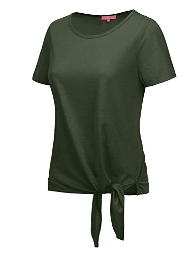 RENGA X NO BOTHER Women's Boat neck Short Sleeve Soft Cotton TriBlend Tee (Top Tri Tie)