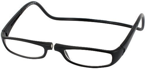 CliC Euro Single Vision Half Frame Designer Reading Glasses, Black, - Euro Glasses