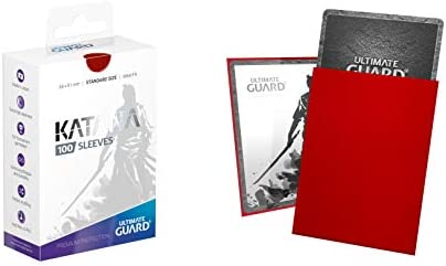 100 count Standard Sized Red Ultimate Guard Sleeves Katana