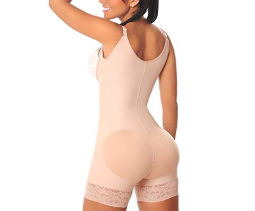 Women's Full Bodysuits Open Bust Tummy Control Shapewear Butt Lifter Tank Lace Shorts Body Shaper Nude