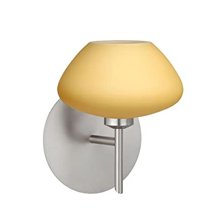 Besa lighting 1sw 5410vm sn 1x40w g9 peri wall sconce with vanilla besa lighting 1sw 5410vm sn 1x40w g9 peri wall sconce with vanilla matte glass aloadofball Images