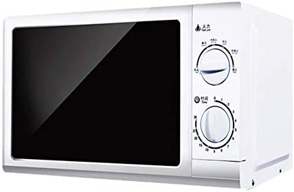 t9 700W Compact Countertop Rotating Microwave Oven with Mechanical Dial Control Adjustable 6 Power Levels Suitable for Kitchen Studios Dormitories White
