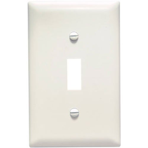 Legrand - Pass & Seymour TP1LACP Trade Master Nylon Wall Plate with One Toggle Switch Opening, One Gang, Light Almond, 10-Pack - 1 Gang Almond