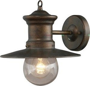 Artistic Lighting 42005/1 1-Light 9-Inch W x 10-Inch H Wall Bracket In Hazelnut Bronze And Clear Seeded Glass