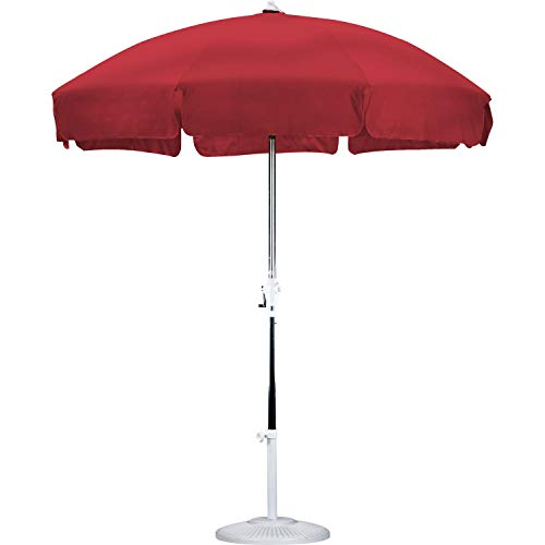 Swag Pads Red 7.5 Ft Patio Umbrella with Push Button Tilt