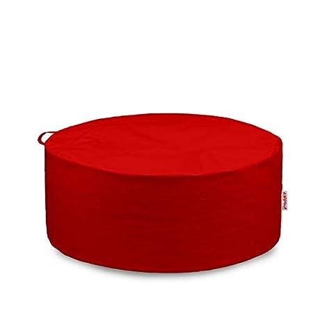 Beige Puff Puf da Giardino 19 Colori Italpouf Pouf Sacco Esterno Circolo 95 /Ø x 40cm Pouf Grande Tondo Impermeabile Pouf Sacco Sfoderabile Imbottito