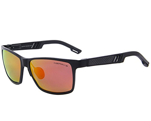 MERRY'S 2016 Hot Retro Aluminum Frame Driving Polarized Sunglasses For Men Women S8571 (Red, - 2016 Selling Top Sunglasses