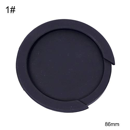 Guitar Soundhole Cover by Ammzzoo111, 86/100/102mm Classical Acoustic Folk Guitar Sound Hole Rubber Cover Round Lid - 86mm