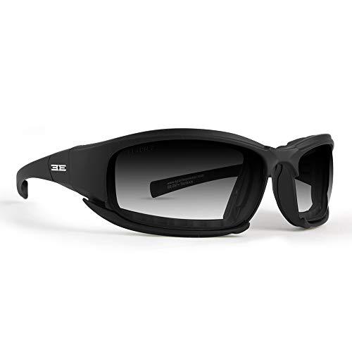 Epoch Eyewear Hybrid Photochromic Padded Motorcycle Sunglasses Clear to Smoke Lens ANSI Z87.1+ (Photochromic Motorcycle Glasses)