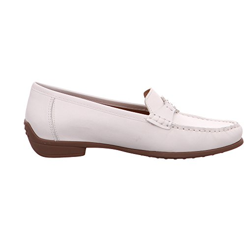 ara Women's Boston Loafer Flats White Weiß ZlwLZwxN