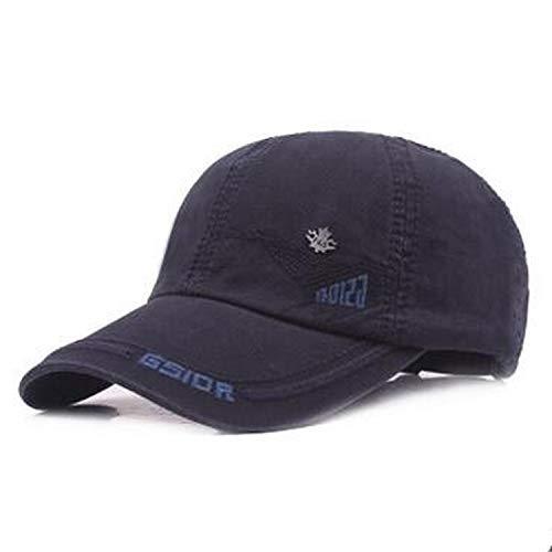SINXE Men's Hat Fashion Cotton Baseball Cap Travel Big Eaves Couple Snapback Tongue Caps Male Bone Adjustable Hat Navy Blue
