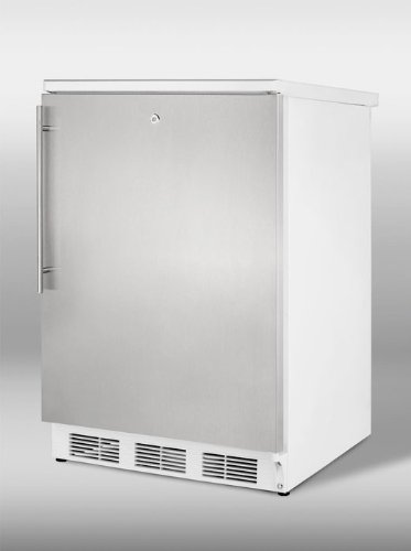 Undercounter Refrigerator With Lock, Stainless Steel Door And