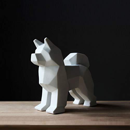 - RXIN Handmade Ceramic Pet Dog Statue Decoration Schnauzer Sculpture Home Furnishings Animal Valentine's Gift L3019