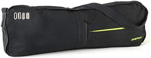 Jade Yoga - Macaranga Mat Bag - Organic Cotton Mat Carrier with Adjustable Shoulder Strap (Color: Black)