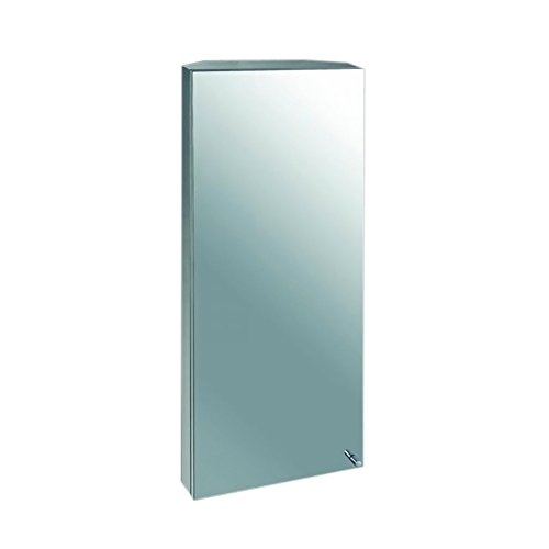Ketcham Cabinets Surface Mounted Space Saving Corner Cabinet Polished Edge Mirror 14''X36'' by ketcham Cabinets