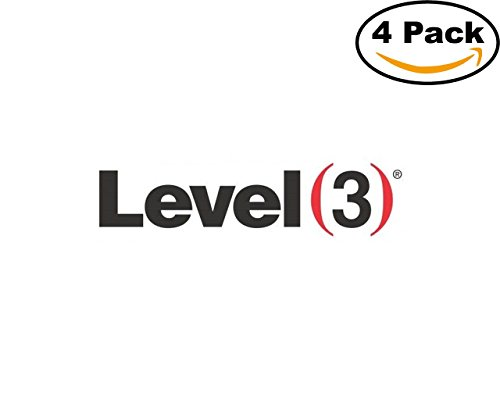 Technolgy Level 3 Communications Logo 4 Stickers 4X4 Inches Car Bumper Window Sticker Decal