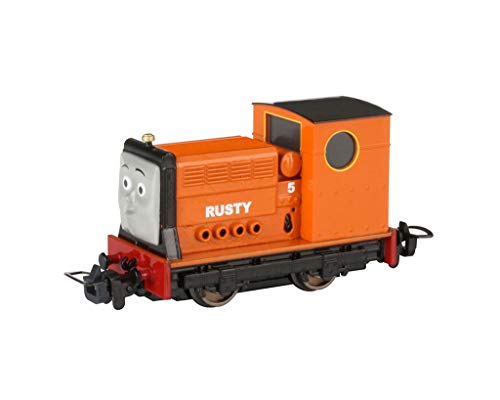(Bachmann Trains Thomas & Friends - Narrow Gauge Rusty (Diecast Construction) - HOn30 Scale - Runs on N Scale Track, Prototypical Orange)
