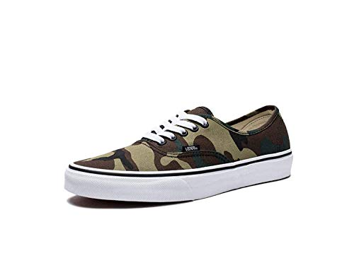 Vans Authentic Woodland Camo Black Men's Classic Skate Shoes Size 9