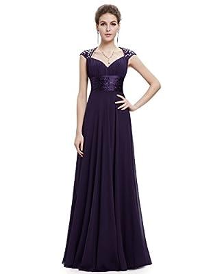 Ever Pretty Chiffon Sexy V-neck Ruched Empire Line Evening Dress 09672