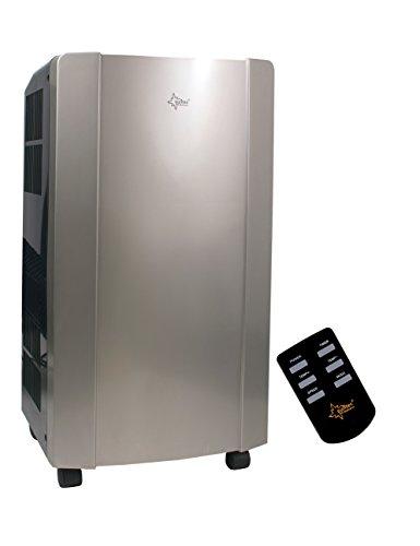 KLIMATRONIC PROGRESS 9.0+ mobiles lokales Klimagerät [12389] [EEK A] (Für Räume bis 80 m³ (~34m²), Kühlen + Entfeuchten, 9.000 BTU/h, alu gebürstet)