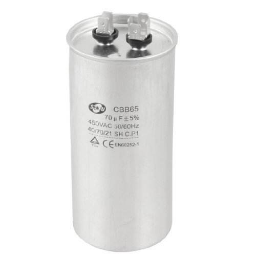 Water & Wood 450V AC 50/60Hz 70uF 5% Round Electric Motor Run Capacitor CBB65 with Car Cleaning Cloth price