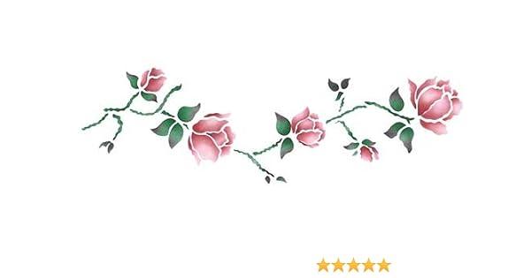 Amazon Com Designer Stencils Rose Vine Wall Stencil Sku 659