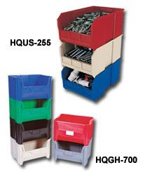 Gray Stacking Storage Cabinet (Quantum Storage Systems, Stackable Bins, Hqgh-700*, Outside Size L X W X H: 15-1/4 X 19-7/8 X 12-7/16