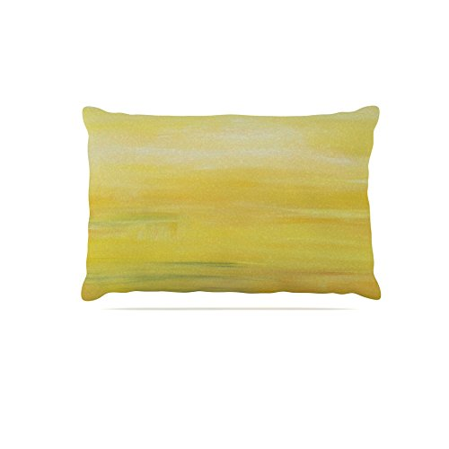 KESS InHouse Cathy Rodgers Spring Dreams Pink Yellow Dog Bed, 50  x 40