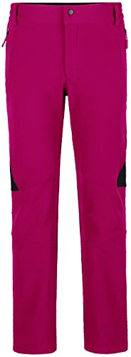 Wantdo Women's Ski Snow Insulated Fleece Softshell Windproof Pants Rose Red US (Stretch Snow)
