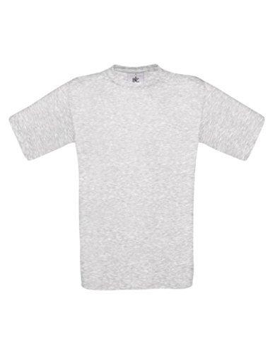 T-Shirt Exact 190 Basics Rundhals Shirt viele Farben B&C S-XXL XL,Ash