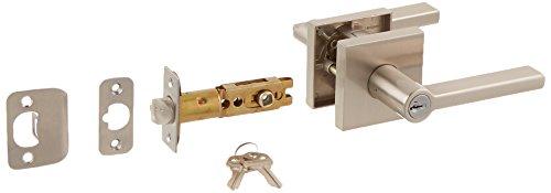 Kwikset 156HFLSQT-15S Halifax Square Entry Door Lock With Smart Key, Satin Nickel