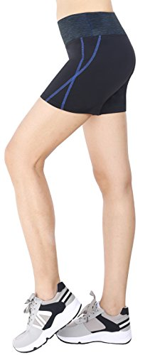 Flatik Women's Yoga Running Short Exercise Workout Shorts