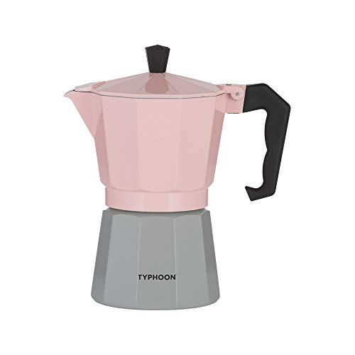 Typhoon Cafe Concept 1401.795 – Cafetera para 6 tazas, color rosa y gris