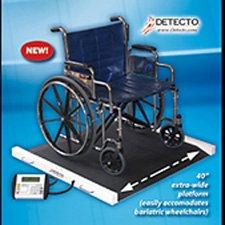 Detecto portable bariatric wheelchair scale (1100 lb/500 kg), 49x45x8