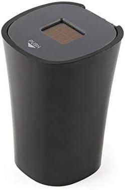 ソーラーパネル、ナイトユースブラック用ふた付きLEDライト、灰皿付き携帯灰皿付きの車の灰皿