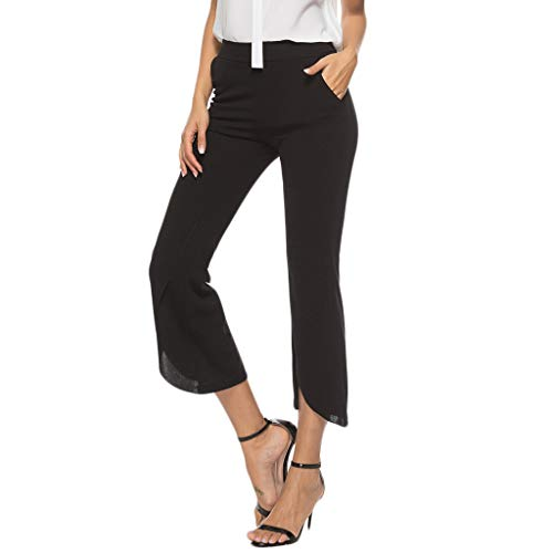 MIS1950s Ladies'plain-Colour Pocket Slacks Waist Slacks Trumpets Seven-Minute Pants