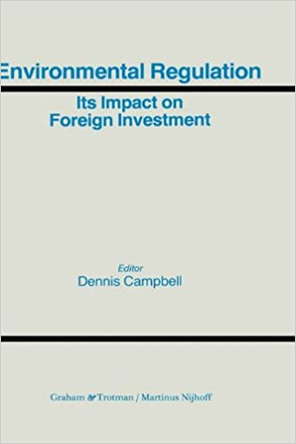 Book Environmental Regulation and its Impact on Foreign Investment