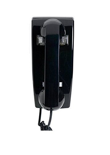 Industrial Hot Line Auto Dialer Wall Telephone (No Dialpad) - BLACK by - Hot Line Telephone