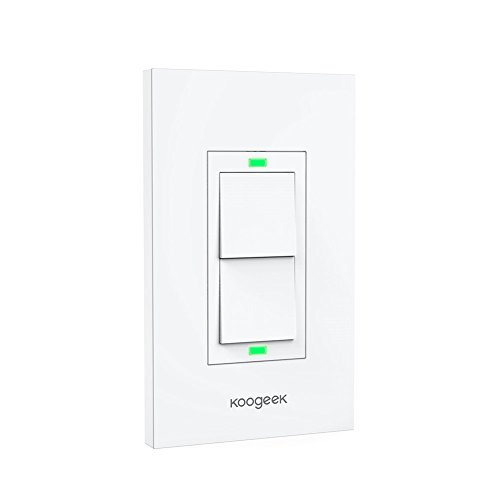 Koogeek Smart WiFi Light Switch Two Gang for Apple HomeKi...